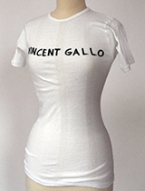 Vincent Gallo T-Shirt (handmade and signed by Vincent Gallo)