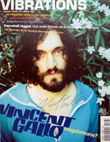 Vibrations Magazine (Switzerland, No. 38, Oct 2001, signed by Vincent Gallo)